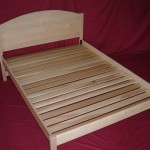 Solid Maple Natural Finish Bed with Spaced Slats and Arched Headboard