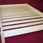 Solid Maple Platform Bed with Spaced Slats