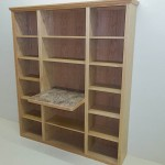 Solid Oak Bookcase with writing area