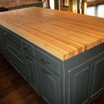Borders Kitchen - Solid American Hardwood Island with Butcher Block Top