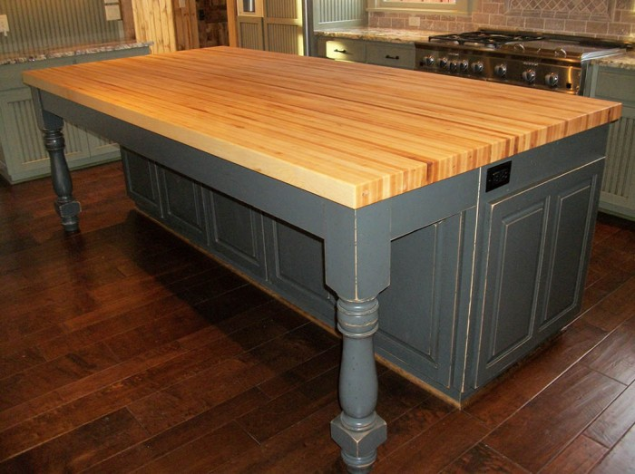 three kitchen island butcher block top have since