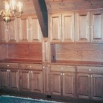 Solid Red Oak Built In Hutch