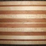 Solid American Maple & Cherry Hardwood Cutting Board