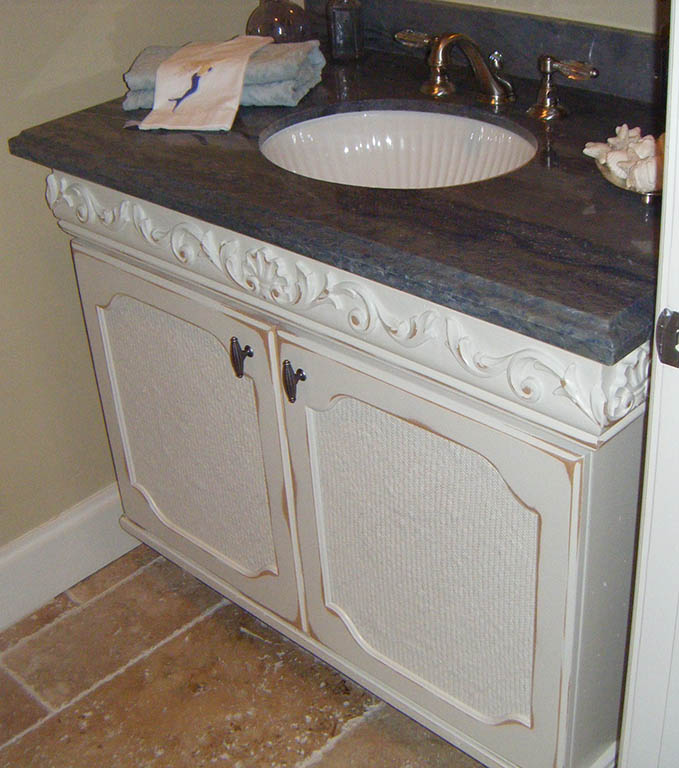 Painting And Distressing Bathroom Cabinets custom handcrafted bathroom cabinets and furniture