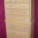 Highboy Dresser with Natural Finish 8 Drawers