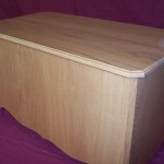 Solid Oak Hope Chest with Hinged Lid and Natural Finish