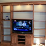 Large Solid Maple Entertainment Center with Raised Panel Doors