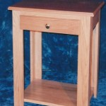 Solid Oak & Cherry with Natural Finish Night Stand