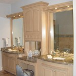 Maple Raised Panel Double Vanity with Granite Counter Tops