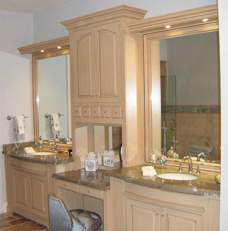 Custom Bathroom Double Vanities custom handcrafted bathroom cabinets and furniture