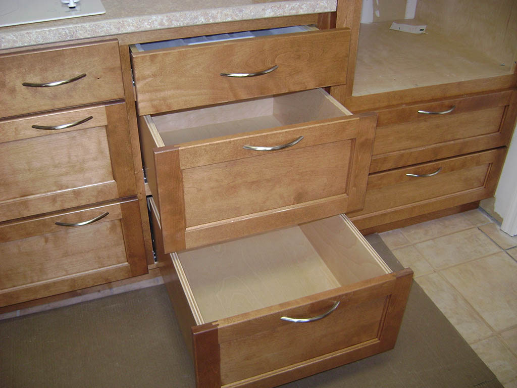 McCanless Kitchen Solid Wood Handcrafted Kitchen Cabinets - Kitchen drawers