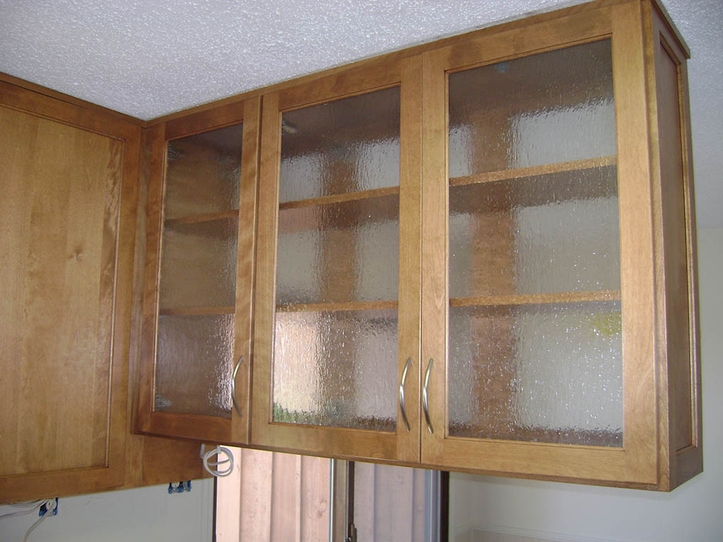 glass upper cabinet other side