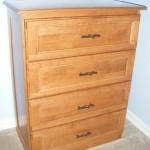 Solid Maple Dresser with Ipswich Pine Stain with Flat Panel Drawer Fronts