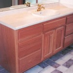 Natural Hardwood Square Raised Panel Vanity