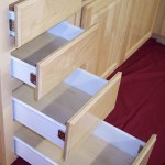 Natural Finish Drawer Bank