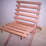 Solid Oak Beach Folding Chair