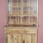 Solid Knotty Hickory Hardwood Hutch
