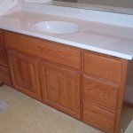 Oak Raised Panel Square Top Vanity