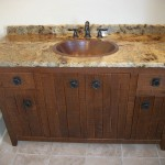 Solid White Oak Rough Sawn Vanity with Granite Top