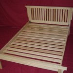 Solid Maple with Poplar Slats Shaker Bed