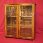 Shaker Style Solid Maple Bookcase with Glass Doors