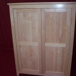 Solid Maple Armoire Flat Panel Doors