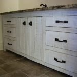 Solid Hardwood Painted Rough Sawn Bath Vanity