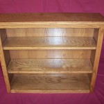 Solid Oak Bookshelf with Adjustable Shelving