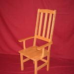 Stephens - Solid Ash Hardwood High Back Arm Chair