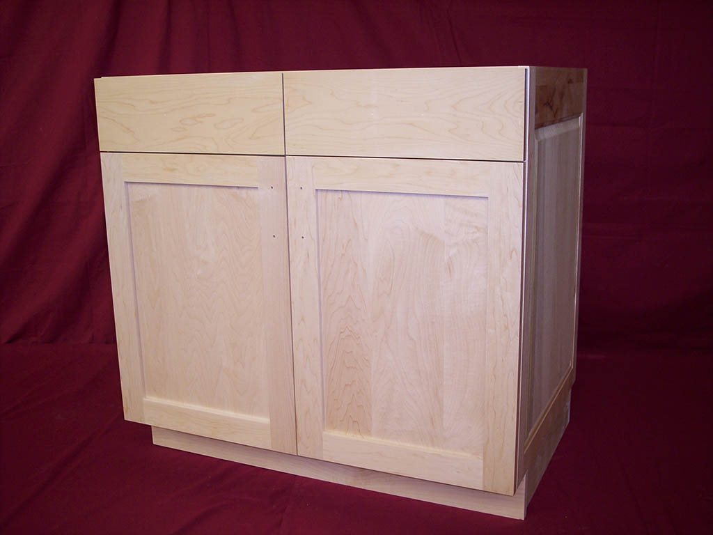 Custom handcrafted bathroom cabinets and furniture for Unfinished shaker bathroom vanity