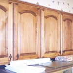 Utility Room - Maple Arched Panel Cabinets