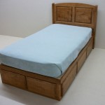 Solid Maple Bed with Square Raised Panel Headboard with Drawers