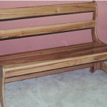 Solid Hickory Bench with a Natural Finish