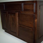 Solid Hard Maple Vanity with Special Walnut Stain