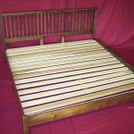 Solid Maple Bed with Poplar Slats & Spiced Walnut Stain