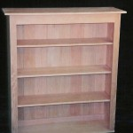 Solid White Oak Bookcase Unfinished