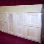Square Flat Panel Doors & Sides With Slab Drawer Fronts