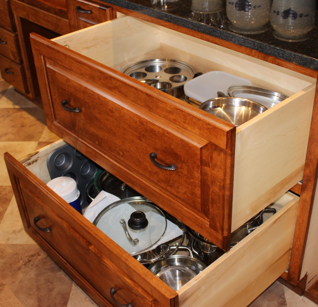 Kitchen Drawers For Pots And Pans kitchen - special features | healthycabinetmakers