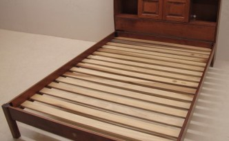 Custom Solid Maple Bed With Angled Headboard