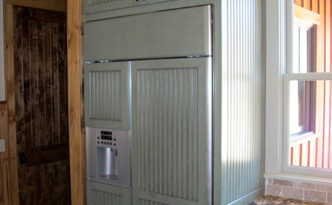 Custom Refrigerator Cabinet With Appliance Panels