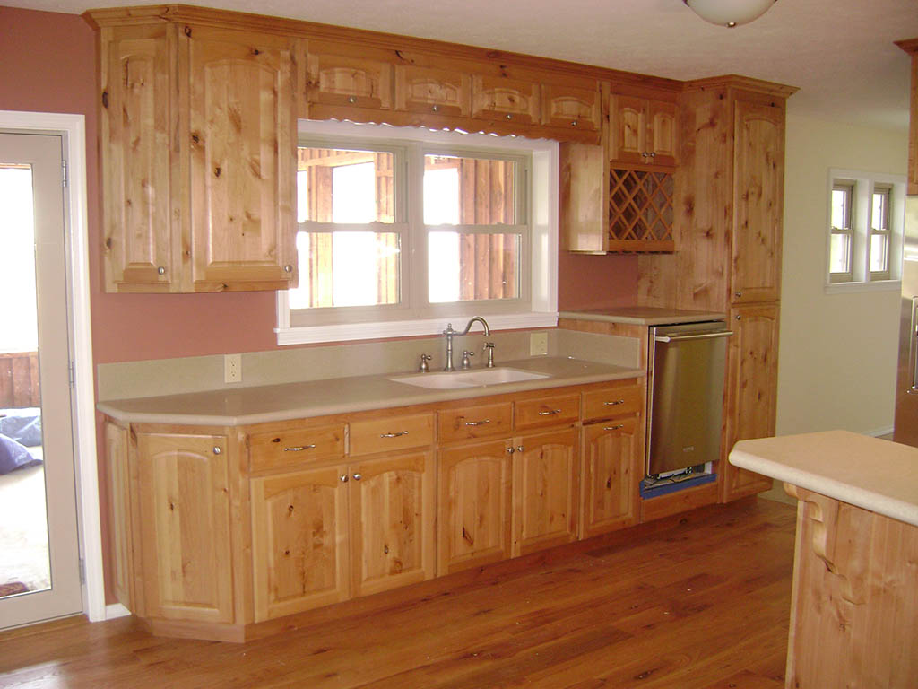 Mattingly Kitchen Solid Knotty Alder Wood Buffet Area