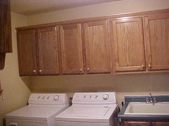 Oak Utility Room Cabinets