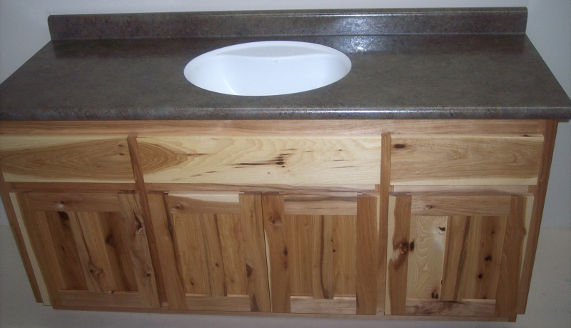 Solid Hickory Vanity