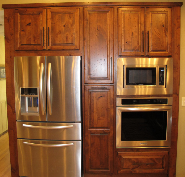 Refrigerator In Cabinet: Built-in Oven And Refrigerator